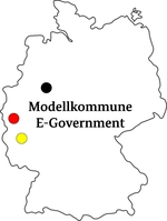 Karte Modellkommune E-Government