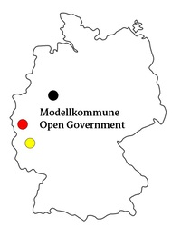 Karte Modellkommune Open Government